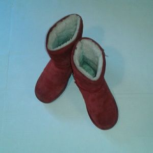 Red Bearpaw Ankle Boots